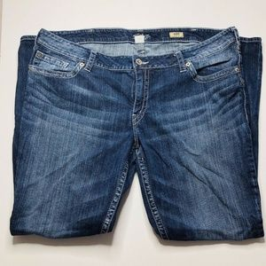 Silver AIKO Bootcut 24 x 33 Womens High Rise Jeans